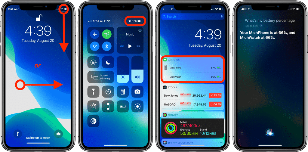 Show battery percentage on iPhone 11, 11 Pro, 11 Pro Max.