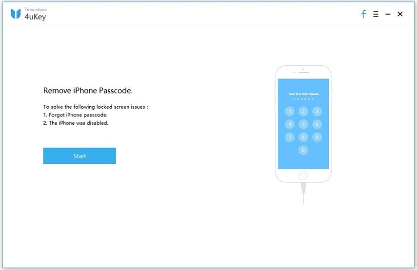 Unlock disabled iPhone with Tenorshare 4uKey