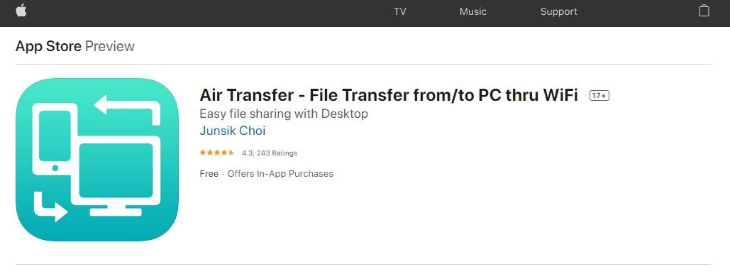 How to transfer files wirelessly between iPhone and PC