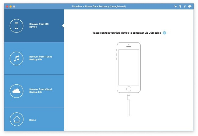 Homepage of FonePaw iPhone Data Recovery