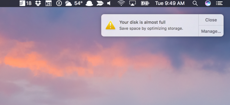 Tips to Free Up Space on your Mac
